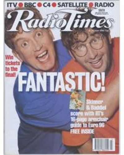 RT 3776 - 8-14 June 1996 (London) FANTASY FOOTBALL LEAGUE European Championship Special - with cover photo of David Baddiel and Frank Skinner.