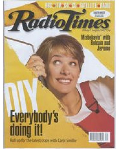 RT 3834 - 26 July-1 August 1997 (South West) CHANGING ROOMS (BBC2) with cover photo of Carol Smillie