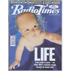 RT 3875 - 16-22 May 1998 (London) THE HUMAN BODY (BBC1) Life: from cradle to grave - we follow BBC1's fantastic voyage through the human body - with cover picture of a baby swimming underwater.