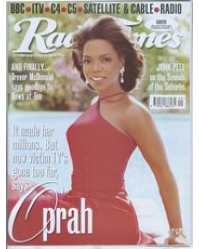 RT 3915 - 27 February-5 March 1999 WOMAN'S HOUR (Radio 4) with cover photo of Oprah Winfrey.