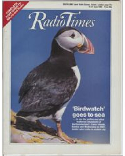 RT 3213 - 15-21 June 1985 (South) BIRDWATCH (BBC1) with cover photo of a puffin.