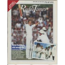 RT 3211 - 1-7 June 1985 (South) INTERNATIONAL CRICKET with cover photo of David Gower