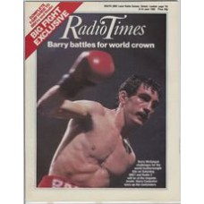 RT 3212 - 8-14 June 1985 (South) INTERNATIONAL BOXING (BBC1 & Radio 2) - Pedroza v McGuigan - with cover photo of Barry McGuigan