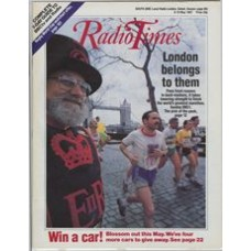 RT 3311 - 9-15 May 1987 THE LONDON MARATHON 87 (BBC1) with cover photo of runners.