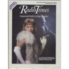 RT 3234 - 9-15 November 1985 (South) Noël Coward: STAR QUALITY (BBC1) with Susannah York on the cover. The first of six Noël Coward dramas beginning this week.