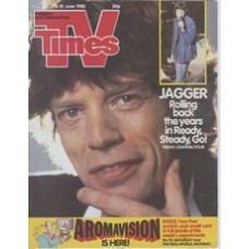 TVT 1985/25 - 15-21 June 1985 (HTV and C4) READY, STEADY, GO! With cover photo of Mick Jagger of the Rolling Stones.