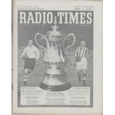 RT 1589 - Apr 23, 1954 (Apr 25-May 1) (West of England) FA CUP FINAL with cover photomontage of Captains Tom Finney and Len Millard, and the cup.