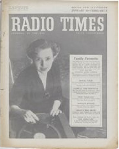 RT 1629 - January 28, 1955 (Jan 30-Feb 5) (West of England) NATIONAL RADIO AWARDS with cover photo of Jean Metcalfe.