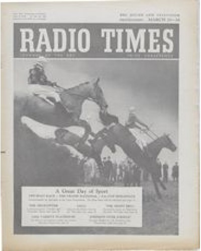 RT 1636 - March 18, 1955 (Mar 20-26) (West of England) THE GRAND NATIONAL - with cover photo of horse racing