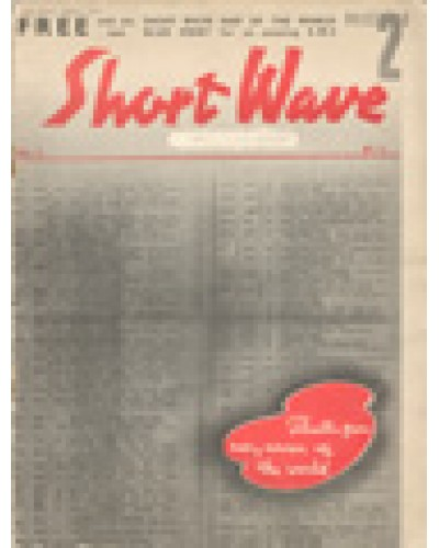SHORT WAVE - Vol.1, No.1 - August 1935 FIRST ISSUE - Thrills from every corner of the world.
