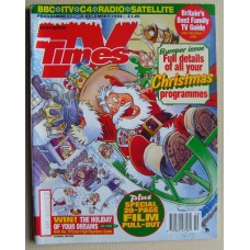 TVT 1994/Xmas - 17-30 December 1994 (South) CHRISTMAS 1994 DOUBLE ISSUE with cartoon cover illustration (by Graham Thompson) of Santa taking off in his sleigh, without due care and attention!