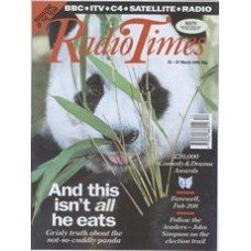 RT 3560 - 21-27 March 1992 (South) WILDLIFE ON ONE (BBC1) Close-up photo of a giant panda. 'Pandas aren't always cuddly'