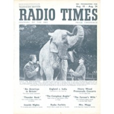 RT 1194 - August 16, 1946 (Aug 18-24) (Scottish) CHILDREN'S HOUR Visit to Whipsnade - with cover photo of an elephant.