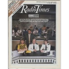 RT 3267 - 5-11 July 1986 (South) CRIMEWATCH UK (BBC1) 2nd Anniversary - with cover photo of Sue Cook, Nick Ross, Supt David Hather and PC Helen Phelps.