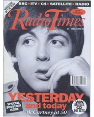 RT 3572 - 13-19 June 1992 (South) SPECIAL SOUVENIR ISSUE - Paul McCartney at 50
