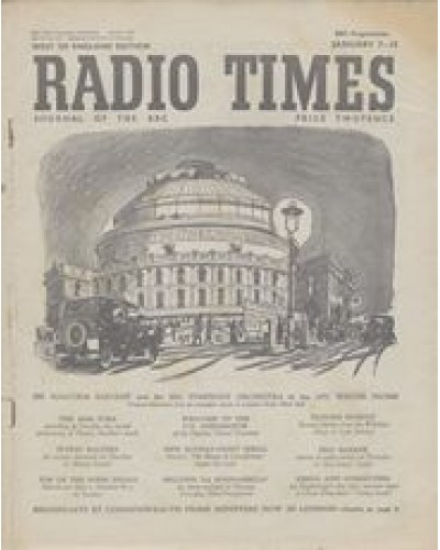 RT 1417 - January 5, 1951 (Jan 7-13) (Wales) PROMENADE CONCERTS Cover illustration: London's Royal Albert Hall
