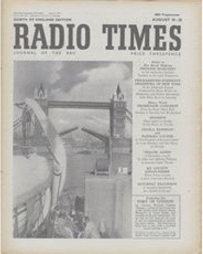 RT 1449 - August 17, 1951 (Aug 19-25) (Midland - Sound and Television) PORT OF LONDON - with photo of Tower Bridge