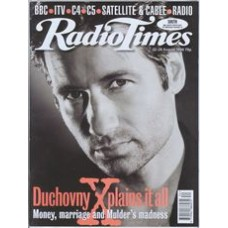 RT 3889 - 22-28 August 1998 (London) MOVIE UPDATE (Radio 1) THE X FILES (Sky 1) David Duchovny