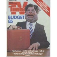 TVT 1985/12 - 16-22 March 1985 (Thames/LWT and C4) BUDGET 85 - Spitting Image puppet of Nigel Lawson.
