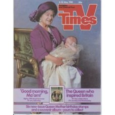 TVT 1985/19 - 4-10 May 1985 (Thames/LWT and C4) TV-AM: GOOD MORNING BRITAIN 'Good morning Ma'am!' - with cover photo (by Snowden) of the Queen Mother with her baby grandson.