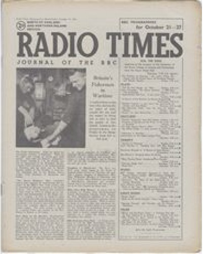 RT 1151 - October 19, 1945 (Oct 21-27) (North of England & N.Ireland) FISHERMEN IN WARTIME - with cover photo.