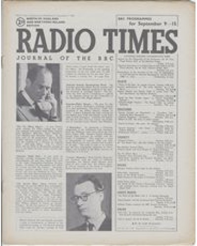RT 1145 - September 7, 1945 (Sep 9-15) (North of England & N.Ireland) THE VIC OLIVER SHOW - with cover photo / THE MICHAEL HOWARD SHOW - with cover photo.