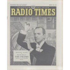 RT 1862 - July 17, 1959 (Jul 19-25) (North of England) FIRST NIGHT OF THE PROMS 65th season (TV / Light) - with cover photo of Sir Malcolm Sargent conducting. Background illustration (by Laurence Bradbury) of the opening night in the Albert Hall.