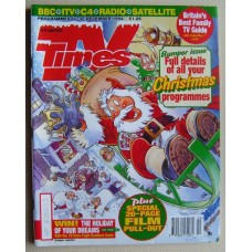 TVT 1994/Xmas - 17-30 December 1994 (HTV) CHRISTMAS 1994 DOUBLE ISSUE with cartoon cover illustration (by Graham Thompson) of Santa taking off in his sleigh, without due care and attention!