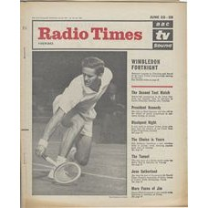 RT 2067 - June 20, 1963 (June 22-28) (London) WIMBLEDON with cover photo of Roy Emerson in action.