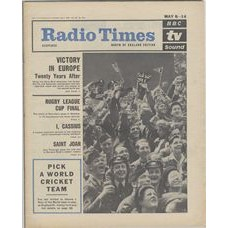 RT 2165 - May 6, 1965 (May 8-14) (Northern Ireland) VICTORY IN EUROPE - TWENTY YEARS AFTER - with cover photo of a crowd of service men & women.
