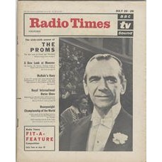 RT 2071 - July 18, 1963 (Jul 20-26) (London) FIRST NIGHT OF THE PROMS The 69th season - with cover photo of Sir Malcolm Sargent