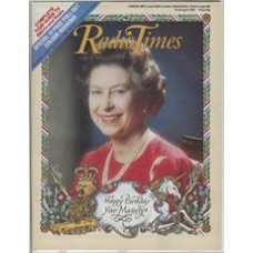 RT 3256 - 19-25 April 1986 (West) Queen's 60th Birthday. Cover photo of the Queen - with border by Gerald Mynott