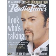 RT 3904 - 5-11 Dec 1998 (North West) PARKINSON MEETS GEORGE MICHAEL (BBC1) with cover photo of George Michael