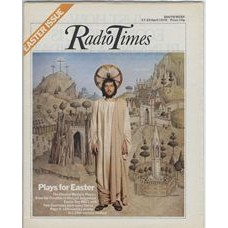 RT 2736 - 15 April 1976 (17-23 Apr) (Midlands) EASTER / THE CHESTER MYSTERY PLAYS - for Easter. Cover photo (by Tony Evans) of  Tom Courtney as Christ - with background painting (by Tom Taylor).