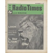 RT 1982 - November 2, 1961 (Nov 4-10) (South & West) LOOK (TV) with cover photo of a lion's head.