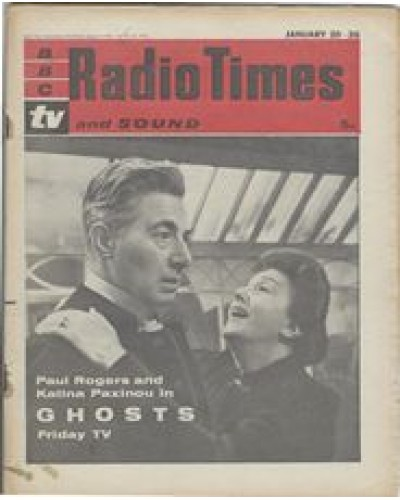 RT 1993 - January 18, 1962 (Jan 20-26) (South & West) GHOSTS (TV) with cover photo of Paul Rogers and Katrina Paxinov