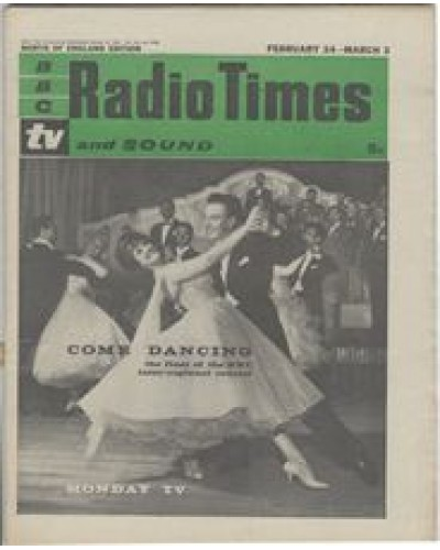 RT 1998 - February 22, 1962 (Feb 24-Mar 2) (South & West) COME DANCING (TV) the final of the BBC inter-regional contest - with cover photo of a couple dancing.