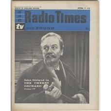 RT 2004 - April 5, 1962 (Apr 7-13) (South & West) THE CHERRY ORCHARD (TV) with cover photo of John Gielgud