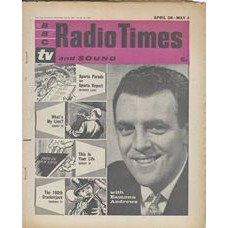 RT 2007 - April 26, 1962 (Apr 28-May 4) (South & West) With Eamonn Andrews… SPORTS REVIEW / WHAT'S MY LINE / THIS IS YOUR LIFE / The 100th CRACKERJACK - With cover photo of Eamonn Andrews - and an illustrations (by Jack Dunkley) of the four programmes