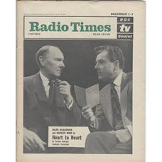 RT 2038 - November 29, 1962 (Dec 1-7) (South & West) HEART TO HEART (TV) with cover photo of Ralph Richardson and Kenneth More.