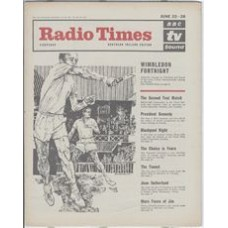 RT 2067 - June 20, 1963 (June 22-28) (South & West) WIMBLEDON with cover drawing of Roy Emerson (by Barry Wilkinson).