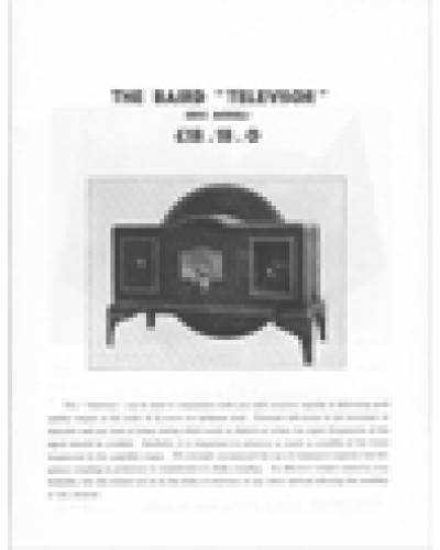 Baird Televisor Ltd THE BAIRD TELEVISOR (Disc Model) Facsimile reprint of this 1931 instruction booklet.