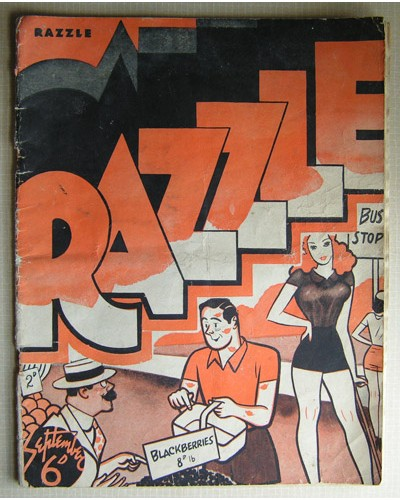 RAZZLE [39/09] September 1939 - Filled with cartoons and jokes.
