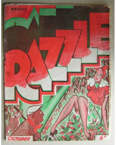 RAZZLE [39/10] October 1939 - Filled with cartoons and jokes.