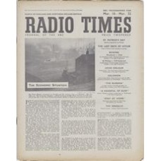 RT 1222 - March 14, 1947 (Mar 16-22) (Wales) PARTY POLITICAL BROADCAST (Home Services) The Economic Speeches by Prime Minister Attlee and Mr Anthony Eden Situation - with cover photo of a Halifax vista.