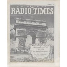 RT 1743 - April 5, 1957 (Apr 7-13) (Scottish) THE STATE VISIT TO FRANCE with cover photo of the  L'Arc de Triomphe.