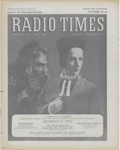 RT 1563 - October 23, 1953 (Oct 25-31) (Wales) THE MERCHANT OF VENICE Michael Redgrave and Peggy Ashcroft.