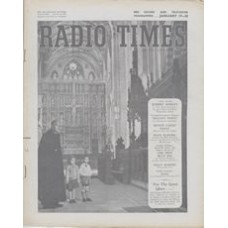 RT 1575 - January 15, 1954 (Jan 17-23) (Scottish) CHILDREN'S HOUR with photo taken in in St. Albans cathedral, the Dean with 2 children.