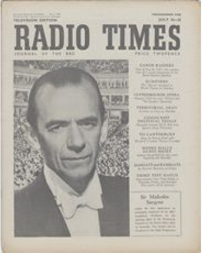 RT 1396 - July 14, 1950 (Jul 16-22) (Scotland) PROMENADE CONCERTS - with cover photo of Sir Malcolm Sargent.