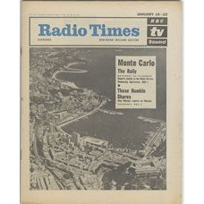 RT 2149 - January 14, 1965 (Jan 16-22) (South & West)  SPORTS VIEW (BBC-1) with cover photo of ariel view of Monte Carlo / THESE HUMBLE SHORES (BBC-1)